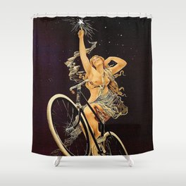 Vintage 1899 Cycles Sirius Bicycle Ad Shower Curtain