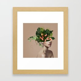 Lady Flowers llll Framed Art Print