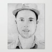 tyler spangler Canvas Prints featuring Tyler by Joe Cardoso