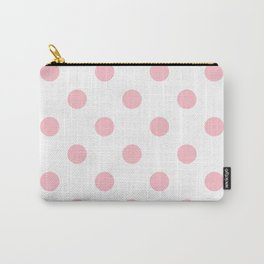 Polka Dots - Pink on White Carry-All Pouch