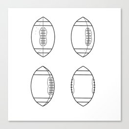 American Football Ball Spinning Sequence Drawing Canvas Print