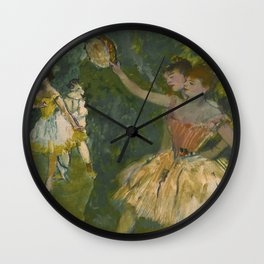 "Edgar Degas ""Dancers with tambourine"" Wall Clock"