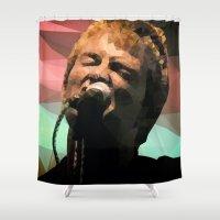 radiohead Shower Curtains featuring Thom Yorke   Radiohead   Creep   Polygon Art by Mirek Kodes