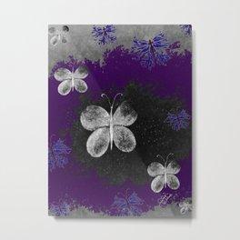 Fluttering Butterflies Metal Print