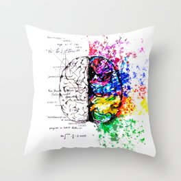 Conjoined Dichotomy Throw Pillow