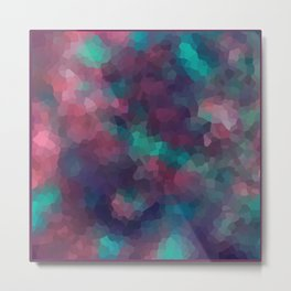 Abstract pattern blue raspberry and turquoise crystals . Metal Print