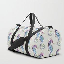 Seahorse : Purple Natural Duffle Bag