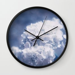 Grace and Beauty Defined a blue Hydrangea flower Wall Clock
