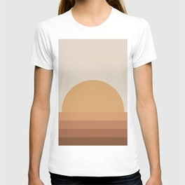 Minimal Retro Sunset / Sunrise - Desert Orange T-shirt