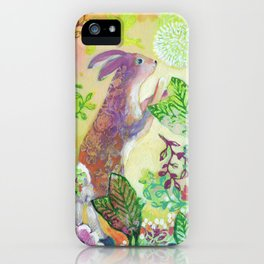 Curious Bunny iPhone Case