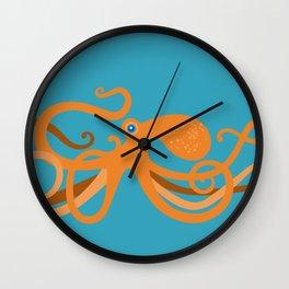 Octopus Swirl Wall Clock