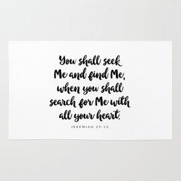Jeremiah 29:13 - Bible Verse Rug