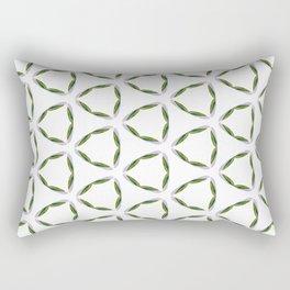 Olive Leave Pattern Rectangular Pillow