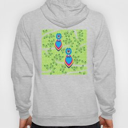Tropical birds on trees Hoody