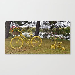 Yellow Bikes Canvas Print