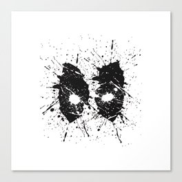 Dead Pool Eyes Splash Canvas Print