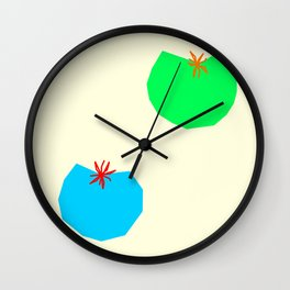Words from Colorful Tomatoes - food vegetable illustration Wall Clock