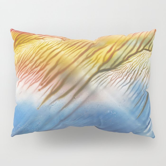 The Wind - abstract landscape watercolor monotype Pillow Sham