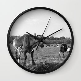 Cow Field Wall Clock