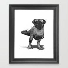 Pugussaurus Rex Framed Art Print