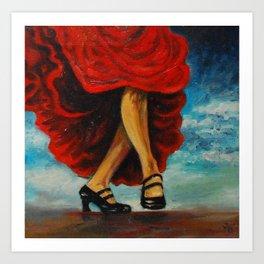 Dance shoes Art Print
