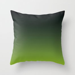 Ombre | Charcoal Grey and Lime Green Throw Pillow