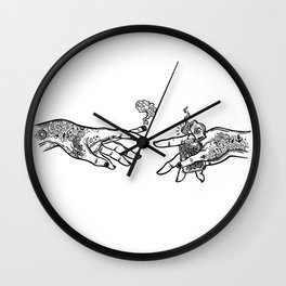 the creation of cannabis Wall Clock