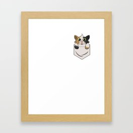 Cute Kitty In Pocket for Cat & Kitten Lovers Framed Art Print