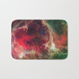Westerhout 5 - Soul Nebula located in Cassiopeia Deep Space Telescopic Photograph Bath Mat