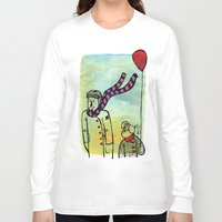 ballon Long Sleeve T-shirts featuring Scarf and ballon by GAiquel