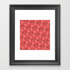 Heart Tiles Framed Art Print