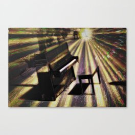 Piano rays Canvas Print