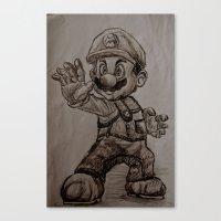 mario Canvas Prints featuring Mario by Hannahcat