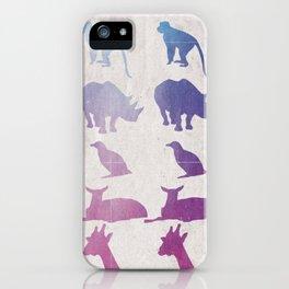 Retro Animals iPhone Case