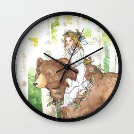 Bear Maiden Wall Clock