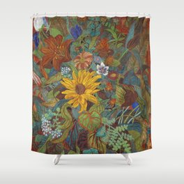 flower 2【Japanese painting】 Shower Curtain