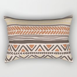 Hand Drawn Ethnic Pattern Rectangular Pillow