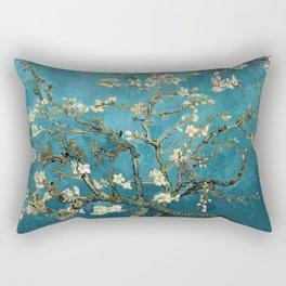 Blossoming Almond Trees, Vincent van Gogh. Famous vintage fine art. Rectangular Pillow