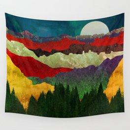 Smoky Mountain Shadows Wall Tapestry