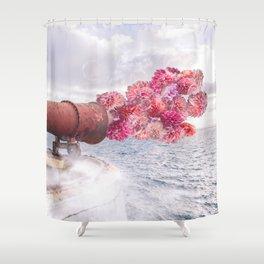 Floral Fog Horn Shower Curtain