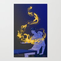 witchcraft Canvas Prints featuring Witchcraft by barbitone