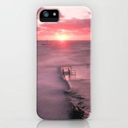 The Sea Pool Sunset, Bude, Cornwall, England, United Kingdom iPhone Case