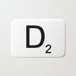 Letter D - Custom Scrabble Letter Wall Art - Scrabble D Bath Mat