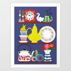 Scandinavian Shelf Collectibles Art Print