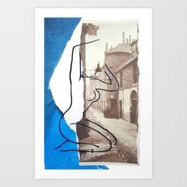 The Lady Down the Lane Art Print