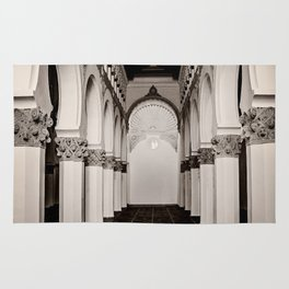 The Historic Arches in the Synagogue of Santa María la Blanca, Toledo Spain (4) Rug