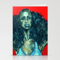 power Stationery Cards featuring POWER by Iconic Arts
