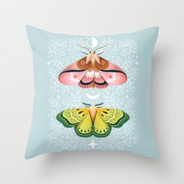 Moth | Moon Children Throw Pillow