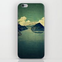 blues iPhone & iPod Skins featuring Distant Blues by Kijiermono