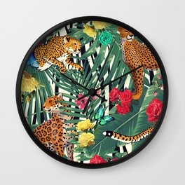 tropical wild  Wall Clock